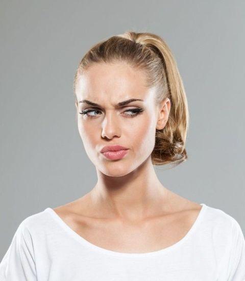 Clothing, Ear, Lip, Cheek, Hairstyle, Skin, Chin, Forehead, Shoulder, Eyebrow,