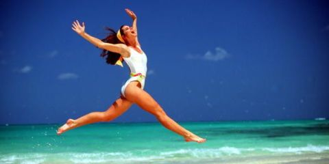 Body of water, Human leg, Happy, Rejoicing, Elbow, People on beach, Leisure, People in nature, Summer, Barefoot,