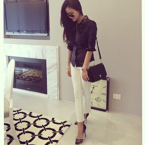 Clothing, Brown, Product, Shoulder, Bag, Outerwear, White, Style, Television set, Fashion accessory,