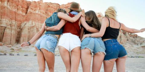 Clothing, Leg, Denim, Jeans, Summer, Hat, Shorts, Interaction, Waist, Thigh,