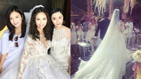 Clothing, Bridal clothing, Sleeve, Event, Bridal veil, Textile, Veil, Photograph, Dress, Happy,
