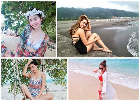 Clothing, Arm, Human, Photograph, Leisure, Summer, Coastal and oceanic landforms, Facial expression, People in nature, Beauty,