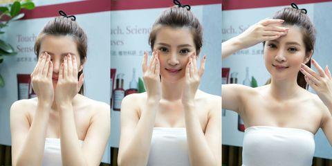 Hair, Face, Head, Ear, Eye, Hairstyle, Skin, Eyelash, Forehead, Shoulder,