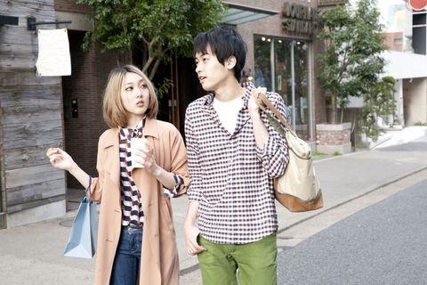 Trousers, Shirt, Bag, Street fashion, Luggage and bags, Waist, Handbag, Snapshot, Photography, Belt,