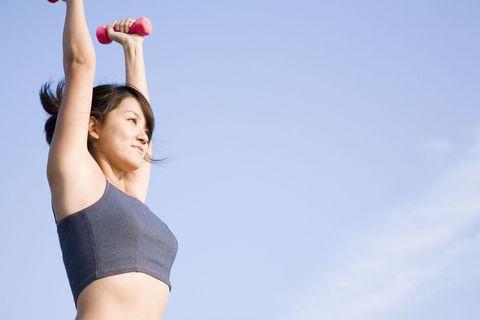 Shoulder, Elbow, Joint, Wrist, Neck, Muscle, Waist, Trunk, Flash photography, Abdomen,