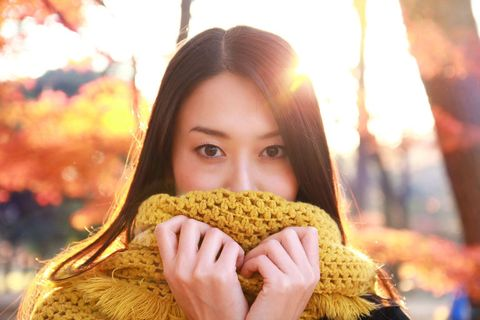 Human, Lip, Hairstyle, Yellow, Textile, People in nature, Amber, Organ, Beauty, Long hair,