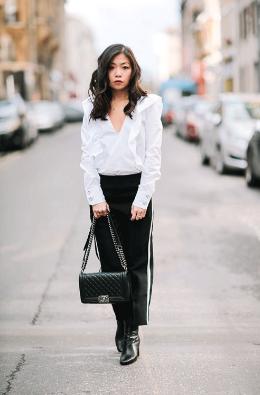 Clothing, Brown, Collar, Textile, Photograph, Outerwear, White, Street, Style, Street fashion,