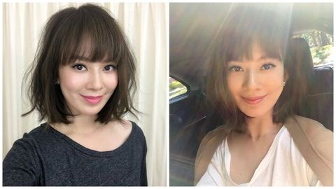 <p>Melody在農曆年後,立刻在臉書PO出, 自稱是「法國夢幻少女髮」的減齡髮型,瀏海長度在眉上一點點,中間短兩邊長,搭配輕盈活力的蜜糖棕,獲得網友們一片好評,詢問度破表呢~~</p>