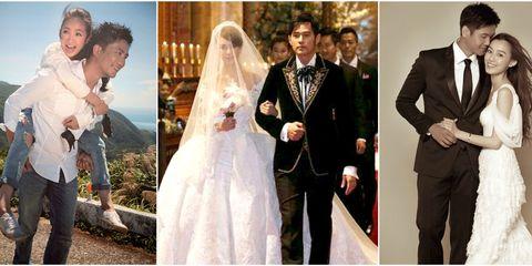 Wedding dress, Photograph, Veil, Bride, Formal wear, Bridal clothing, Gown, Dress, Suit, Ceremony,