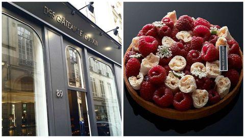 <p>這家是大名鼎鼎的Pierre Herme的女弟子開的甜點店,兩人也曾經在LaDurée工作過,可謂名師出高徒,在甜點店環伺的巴黎,女主廚還能闖出一片天地,實屬不易啊!店內以大器優雅的黑色裝潢為主,甜品種類不多,但每個都超級精緻!</p>