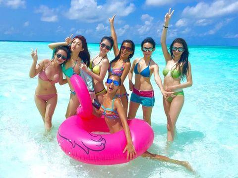Fun, Recreation, Leisure, Tourism, Aqua, Happy, Summer, Swimwear, People in nature, Facial expression,