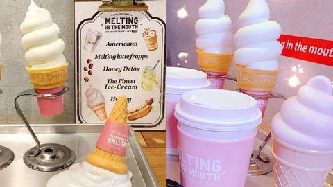 <p>其實這家主打健康美味的有機霜淇淋,但是COSMO Angel一看到霜淇淋本人,還以為是假的模型呢~畢竟真的太可愛,怎麼可以這麼Q呢!店內提供免費的WIFI跟插座,相信就是要提供給Angel們打卡跟朋友炫耀的啦!</p>