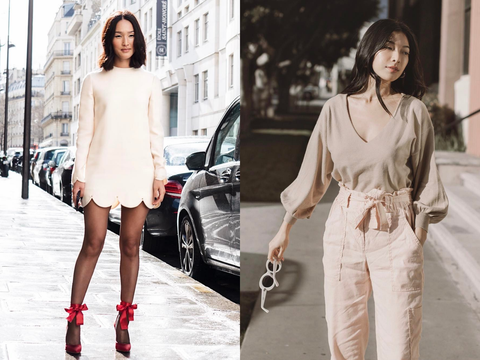 Fashion model, White, Clothing, Fashion, Street fashion, Shoulder, Dress, Footwear, Black-and-white, Leg,