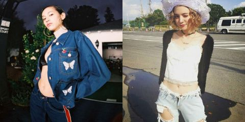 Clothing, Jeans, Denim, Fashion, Street fashion, Outerwear, Jacket, Headgear, Textile, Beanie,