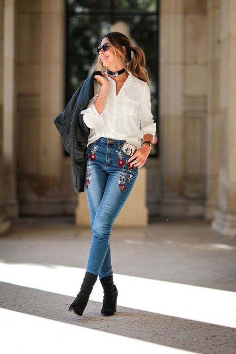 Clothing, Sleeve, Denim, Jeans, Textile, Joint, Outerwear, Collar, Style, Street fashion,