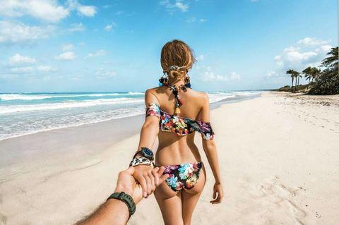 People on beach, Bikini, Vacation, Summer, Swimwear, Beach, Fun, Caribbean, Tropics, Sea,