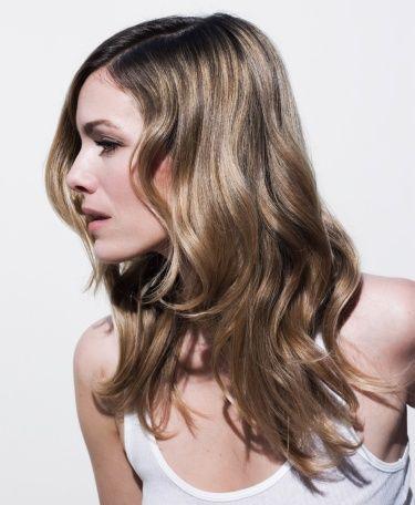Hair, Hairstyle, Blond, Hair coloring, Layered hair, Chin, Brown hair, Long hair, Beauty, Brown,
