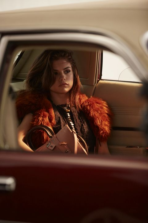 Hair, Vehicle door, Beauty, Vehicle, Car, Long hair, Fashion, Lip, Automotive design, Brown hair,
