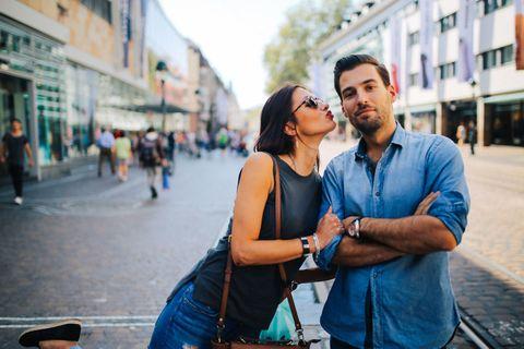 Photograph, People, Yellow, Snapshot, Town, Smile, Street, Photography, Interaction, Fun,