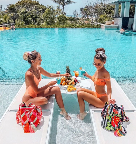 Vacation, Leisure, Summer, Turquoise, Sun tanning, Fun, Swimming pool, Tourism, Recreation, Caribbean,