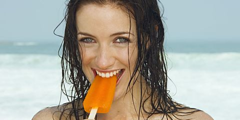 Lip, Mouth, Hairstyle, Facial expression, People in nature, Summer, Amber, Jaw, Tooth, Beauty,