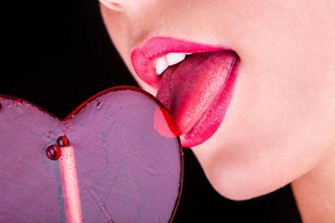 Lip, Tongue, Pink, Mouth, Organ, Close-up, Heart, Cheek, Neck, Flesh,