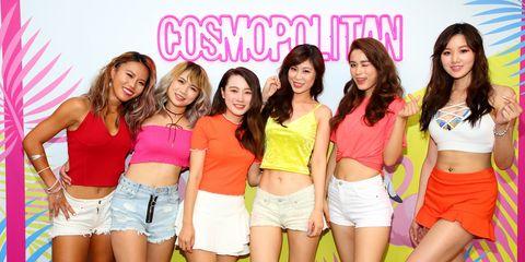 Social group, Waist, Abdomen, Shorts, Thigh, Trunk, Denim, Stomach, Youth, Beauty,
