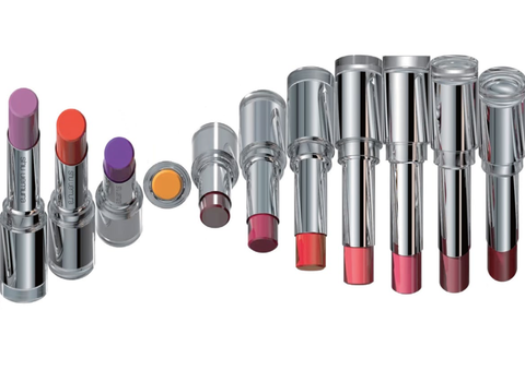 Lipstick, Pink, Cosmetics, Red, Product, Beauty, Purple, Material property, Eye shadow, Tints and shades,