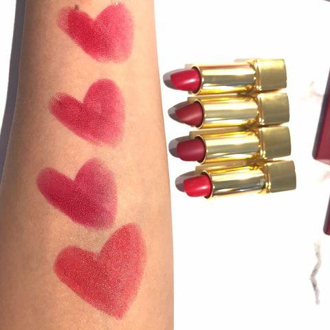 Pink, Lipstick, Cosmetics, Lip, Red, Skin, Magenta, Tints and shades, Material property, Lip gloss,