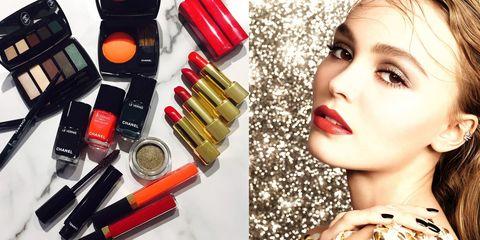 Red, Hair, Lip, Lipstick, Beauty, Orange, Cosmetics, Product, Skin, Eyebrow,