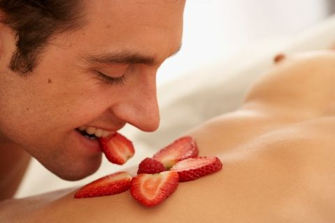 Lip, Skin, Nose, Sweetness, Close-up, Mouth, Food, Strawberry, Strawberries, Eating,