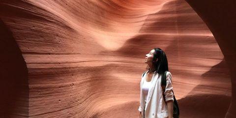 Light, Beauty, Canyon, Long hair, Photography,