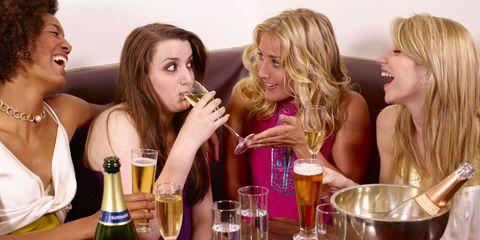 Blond, Drinking, Fun, Drink, Event, Liqueur, Friendship, Alcohol, Long hair, Distilled beverage,