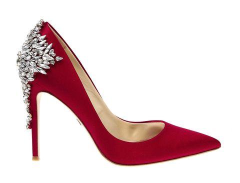 High heels, Footwear, Basic pump, Red, Court shoe, Shoe, Carmine, Bridal shoe, Magenta, Sandal,
