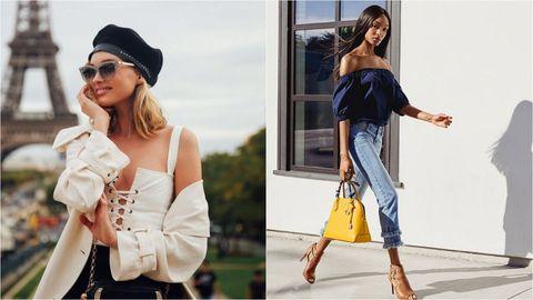 White, Clothing, Shoulder, Fashion model, Fashion, Dress, Street fashion, Footwear, Joint, Headgear,