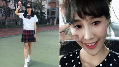 Clothing, Uniform, Fashion, School uniform, Snapshot, Pattern, Design, Black hair, Bangs, Textile,