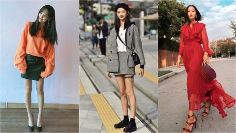 Clothing, Fashion model, Fashion, Footwear, Street fashion, Dress, Outerwear, Leg, Jacket, Shoe,