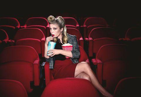 Red, Beauty, Sitting, Blond, Leg, Thigh, Performance, Photography, Magenta, Audio equipment,