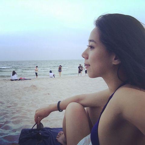 Hair, Beach, Photograph, Beauty, Vacation, Sky, Sea, Summer, Ocean, Skin,