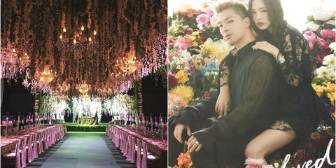 Photograph, Pink, Tree, Ceremony, Dress, Floral design, Spring, Event, Plant, Flower,