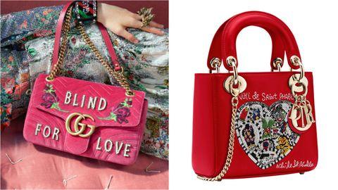 Bag, Handbag, Fashion accessory, Red, Pink, Shoulder bag, Material property, Luggage and bags, Tote bag,