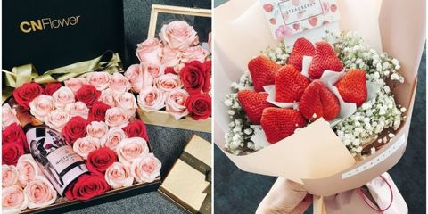 Pink, Rose, Garden roses, Red, Flower, Bouquet, Valentine's day, Cut flowers, Rose family, Plant,