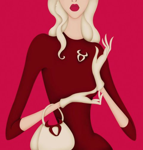 Pink, Cartoon, Illustration, Magenta, Lip, Blond, Dress, Neck, Plant, Animation,