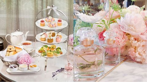 Pink, Peach, Centrepiece, Brunch, Tableware, Food, Party, Sweetness, Flower, Table,