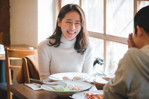 Meal, Restaurant, Eating, Lunch, Conversation, Brunch, Food, À la carte food, Breakfast, Cuisine,