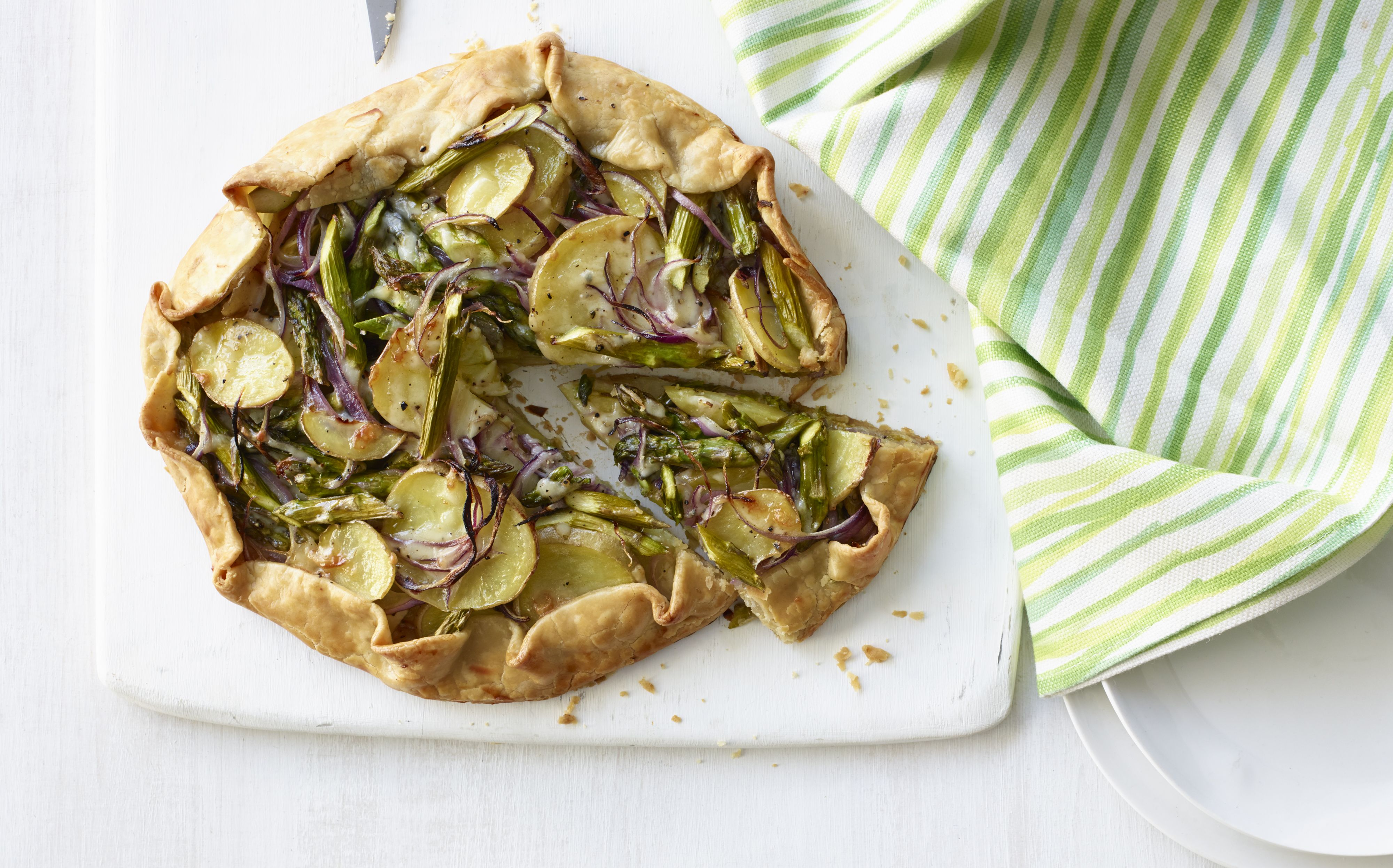Watch Asparagus, Potato, and Spinach Galette video