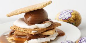 caramel cadbury egg smores