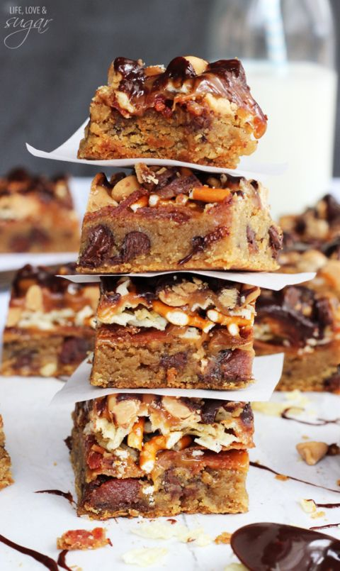 bacon beer and potato chip cookie bars