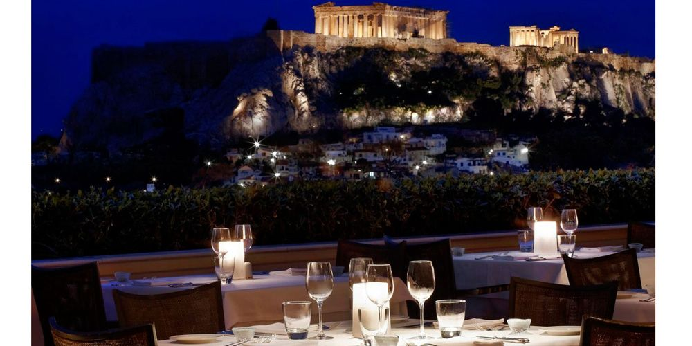 """The <a href=""""http://www.grandebretagne.gr/en/restaurants-and-bars"""" target=""""_blank"""">Grande Bretagne</a> is an institution in Athens. The famous hotel has played host to state leaders (Winston Churchill almost paid dearly for his visit in 1944 after a failed attempt on his life) and celebrities alike, and is still the best place to people-watch in the Greek capital. The outdoor bar's roof garden in particular is a great place to view the ancient sites interspersed with modern landmarks."""