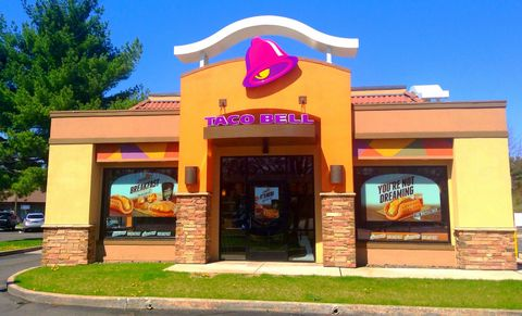 Restaurant, Signage, Sidewalk, Advertising, Fast food restaurant, Curb,